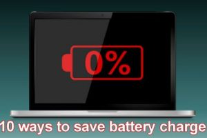 10 ways to save battery charge